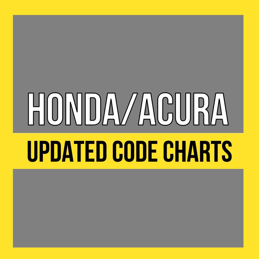 Honda/Acura Updated Code Charts